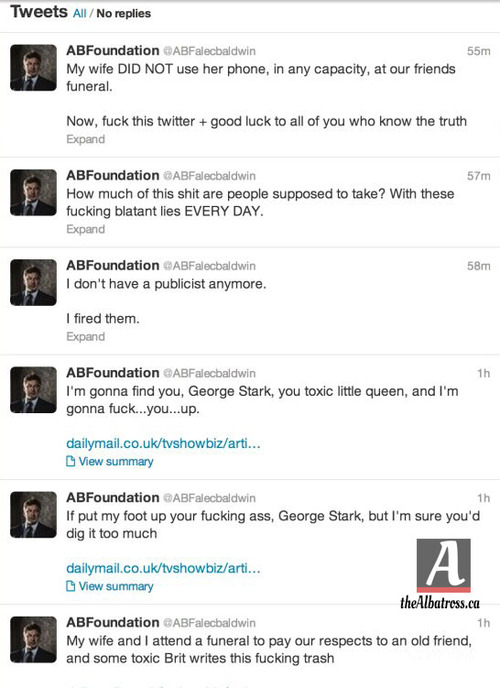 Alec Baldwin has another meltdown on Twitter